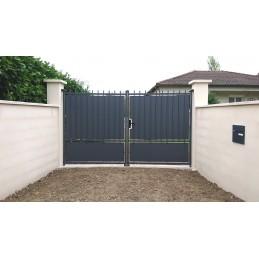 portail Crête 3m festonné gris