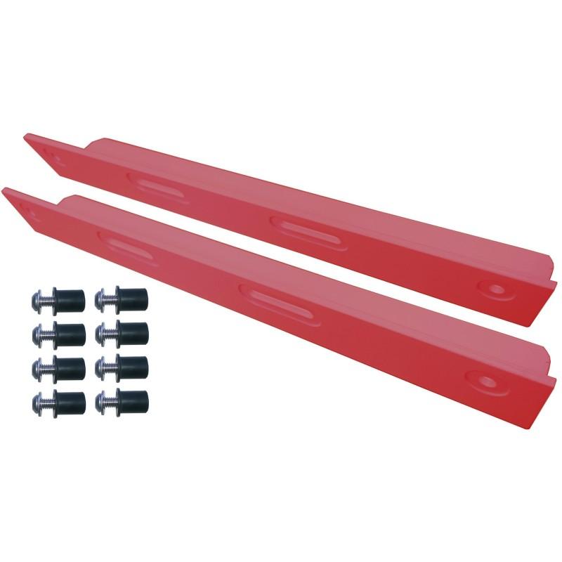 cornières de renfort rouge