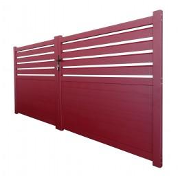 portail Cambridge rouge RAL 3004 3m
