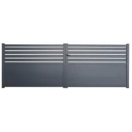 portail Cambridge gris 4m