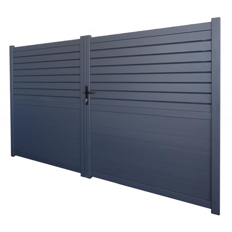 portail Machester gris 3m